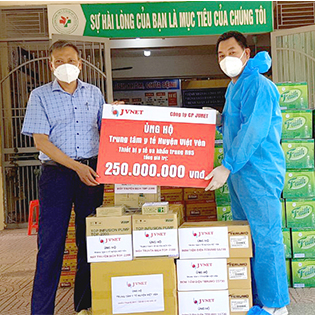 JVNET chung tay ủng hộ Việt yên