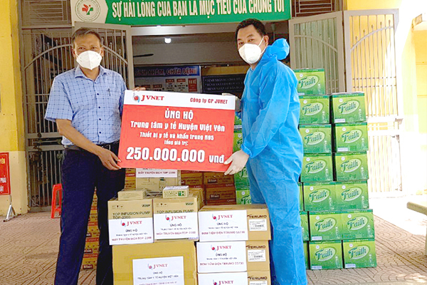 JVNET hỗ trợ huyện Việt Yên