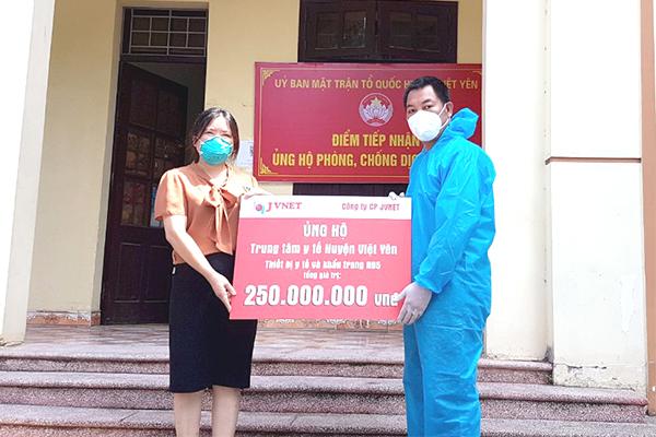 JVNET ủng hộ Việt Yên