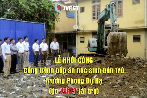 Lễ khởi công JVNET tài trợ
