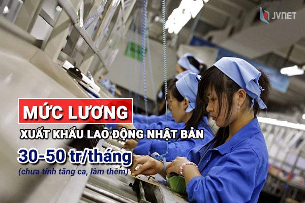 Mức lương xuất khẩu lao động tại Nhật Bản