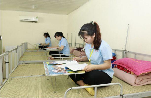 Khu ký túc xá sạch sẽ thoáng mát tại trung tâm học tiếng Nhật