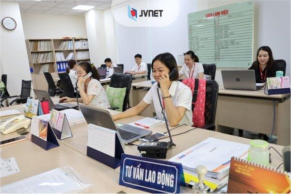 đội ngũ tư vấn viên tại JVNET
